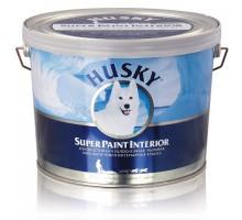 Краска ВД  интерьерная износостойкая матовая HUSKY SUPER PAINT INTERIOR 9 л База С