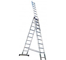 Лестница 3-х-секционная, 3 х 7 ступеней, алюминиевая, Perilla