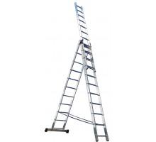 Лестница 3-х-секционная, 3 х11 ступеней, алюминиевая, Perilla
