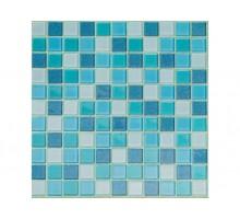 BLUE LAGOON  мозаика стеклянная чип 25х25х4 мм лист 295х295 мм на сетке (23шт/кор)