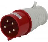 Вилка кабельная 32А 3Р+N+Е IP44 переносная 380В