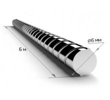 Арматура  6 мм В500С (6,0 м) рифленая