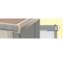 Профиль для керамической плитки гибкий РП-АКП-10 2,7м анодированный серебро матовый