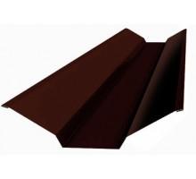 Ендова верхняя 76*76*2000мм  (8017) шоколад