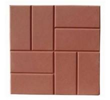 Тротуарная плитка Восемь кирпичей красная 400х400х5 мм