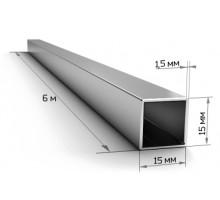 Труба профильная 15*15*1,5мм (6м) 3,64кг/пач625шт
