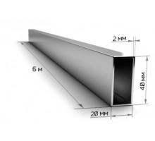 Труба профильная 40*20*2,0мм (6м) 11,16 кг/пач240шт