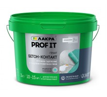 Грунт бетон-контакт Лакра PROF IT 3кг (1уп-1шт/в поддоне-144шт)