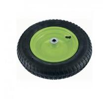 Колесо для тачки пневматическое 3.25/3-8, 360 мм, длина оси 65 мм, подшипник 20 мм, СИБРТЕХ