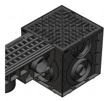 Дождеприемник S'park ДП-25.25-ПП пластиковый с решеткой щелевой пластиковой (комплект) 08670811