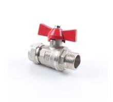 Кран шаровый для м/п трубы 20 х 3/4 НР (GTN)