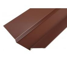 Ендова верхняя 80*80*2000мм  (8017) шоколад