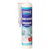 Герметик KRASS силиконовый санитарный белый 300 мл (1 уп-12 шт)