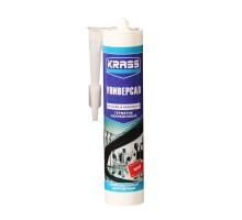 Герметик KRASS силиконовый универсальный белый 300 мл (1 уп-12 шт)