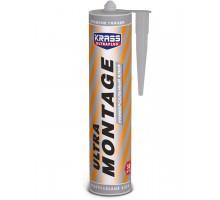 Клей KRASS Ultramontage универсальный белый 260 мл жидкие гвозди 1уп.=12шт