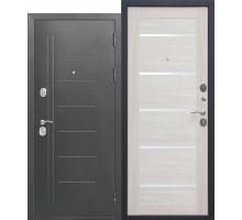 Дверь мет. Троя Серебро 10см  (960х2050 левая) Лиственница беж Царга
