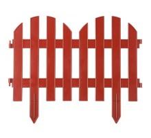 Забор декоративный, Палисадник, 28 х 300 см, терракот, Grinda