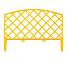 Забор декоративный, Плетень, 24 х 320 см, желтый, Grinda