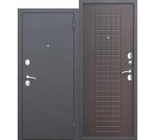 Дверь металлическая Гарда Муар 8 см венге 860х2050 левая