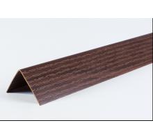 Угол двухсторонний 30х30 Орех темный LU017  2,7м  (1 уп-25 шт)