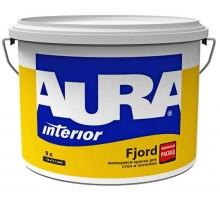 Краска ВД влагостойкая для стен  и потолков AURA FJORD9  л