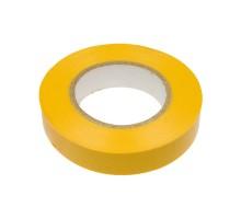 Изолента ПВХ желтая 19 мм х 20 м, Hobbi