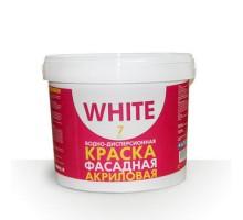 Краска для фасадов WHITE 7 кг 1уп.1шт
