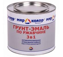 Грунт-Эмаль по ржавчине голубая 2,5 кг  Мирколор 3 в 1